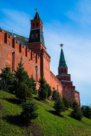 Journ�e de printemps Kremlin de Moscou. Russie