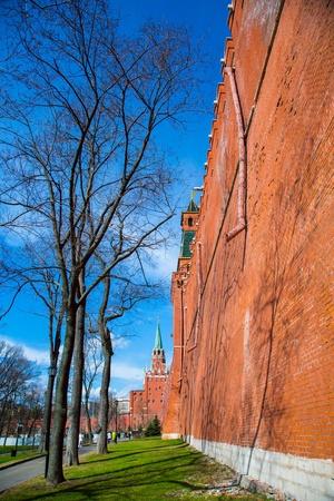 Moscou journ�e de printemps Kremlin. Russie