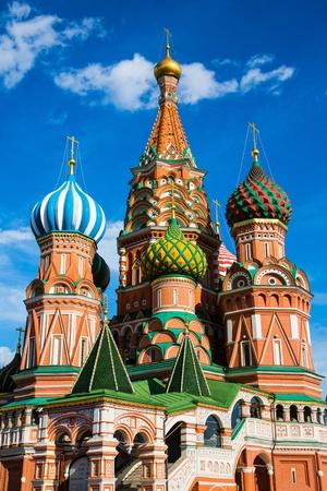 Cath�drale St Basils sur la place rouge � Moscou