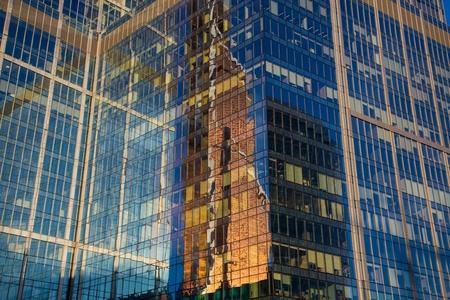 Moscou gratte-ciel fond, la Russie, Moscou-City