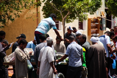 HURGHADA, EGYPT - July 29: locals buy watermelon 29 2011