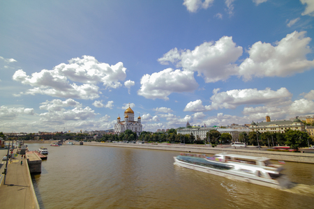 Cathedral of Christ the Saviour. Russia,Moscow Stock Photo