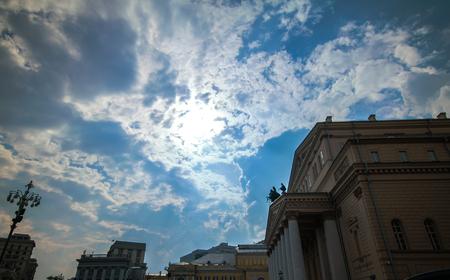 Daylight View du Th��tre du Bolcho� � Moscou, Russie Banque d'images