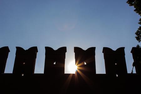 sunny Moscow kremlin wall Stock Photo