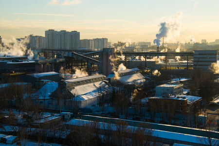 MOSCOW, RUSSIA pipe heating systems