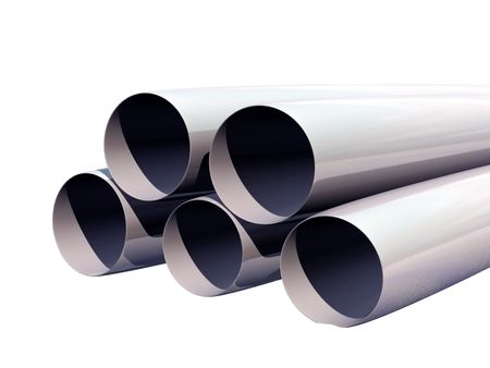 fife: Pipes, metal, round, long, fuel, idustry, grey, fife Stock Photo