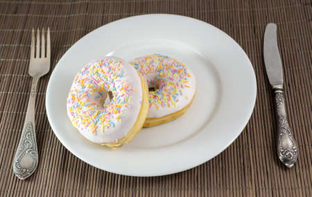 donuts on the plate Stock Photo - 18938511