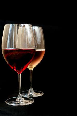 Red and white wine photo