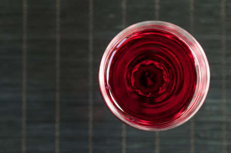 window  glass: red wine