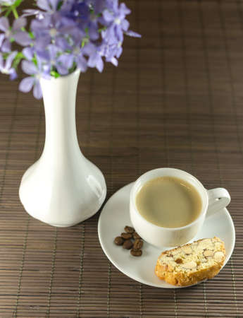 Biscotti and coffee Stock Photo - 19758983