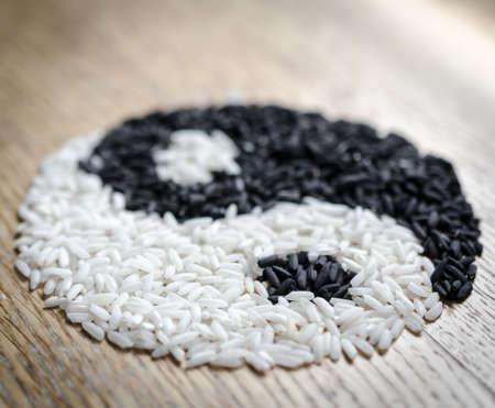 Rice Yin and Yang photo