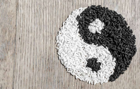 Rice Yin and Yang photo