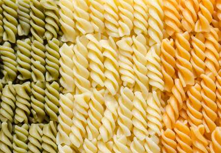 Fusilli pasta italian flag photo