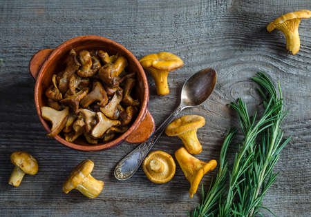 roasted chanterelles photo