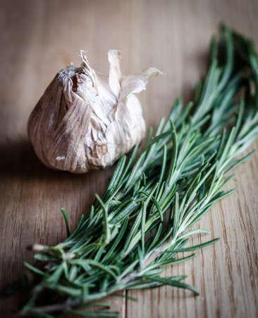 garlic and rosemary Stock Photo - 21741489