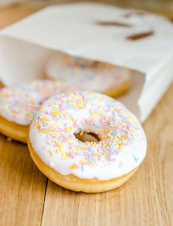 purchased: donuts Stock Photo