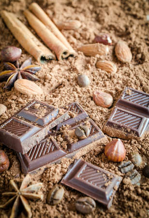 ground nuts: Chocolate
