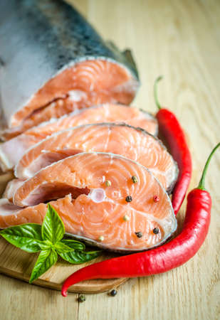 salmon steaks photo