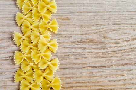 uncooked farfalle pasta photo