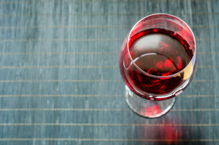 glass with red wine photo
