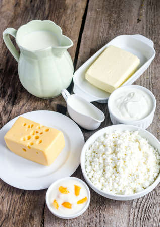 ricotta cheese: Milk products Stock Photo
