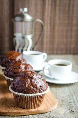 Chocolate muffins photo