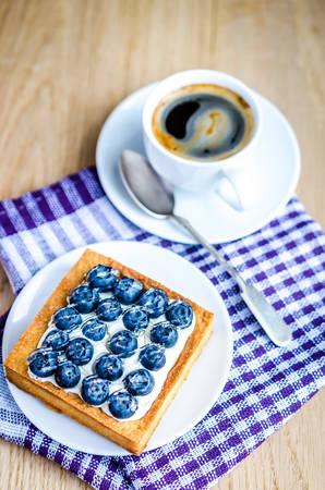 Blueberry cake photo