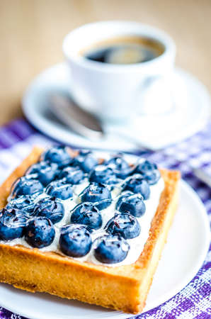 Blueberry cake photo