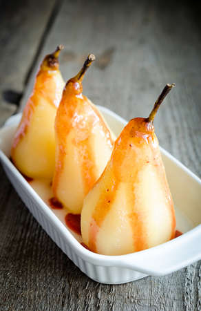 poached pears photo