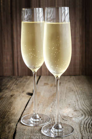 Two glasses of champagne Stock Photo