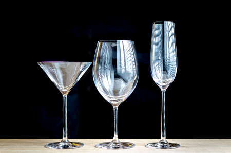 various types of glasses photo