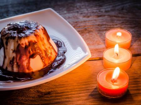candlelit: panna cotta