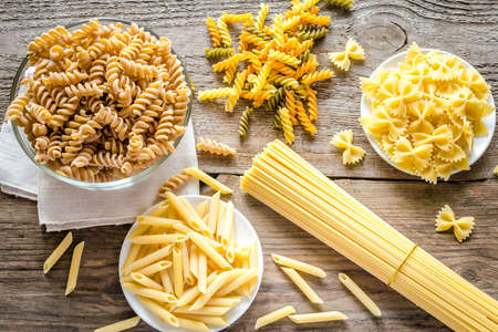 short pasta: Various pasta types