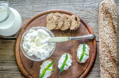 Bread with creamcheese photo