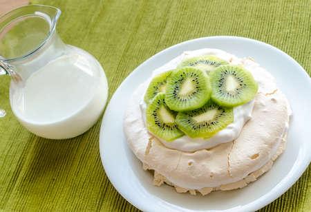 kiwifruit: Kiwifruit pavlova Stock Photo