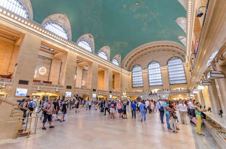 NEW YORK CITY - JULY 17: View inside Grand Central on July 17, 2014 in New York. Grand Central is a commuter rail terminal station at Manhattan.