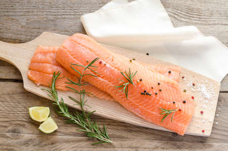 unsaturated: salmon steaks