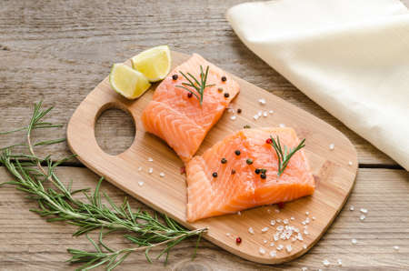 unsaturated fat: salmon steaks