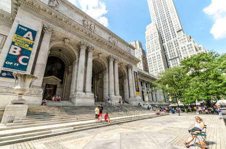 NEW YORK - JULY 22: The New York Public Library on July 22, 2014 in New York. With nearly 53 million items, the New York Public Library is the second largest public library in the United States.