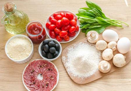 pizza ingredients photo
