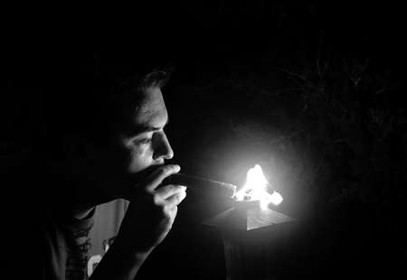 man with cigare photo