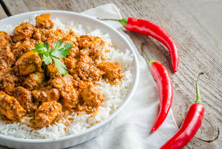 meat dish: Indian butter chicken