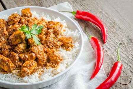 Pollo de mantequilla indio