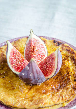 Crepes with fig photo