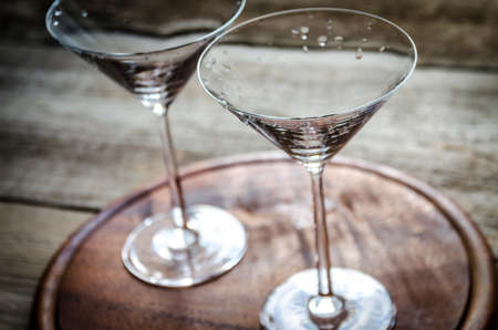 martini glass: two cocktail glasses