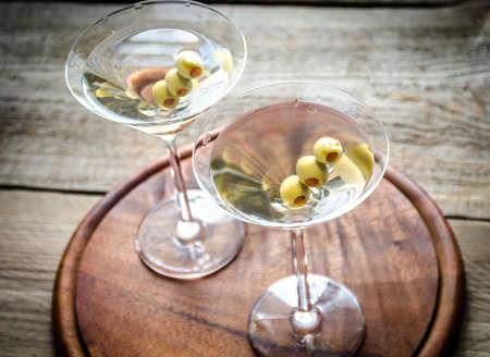 olive: Martini cocktails