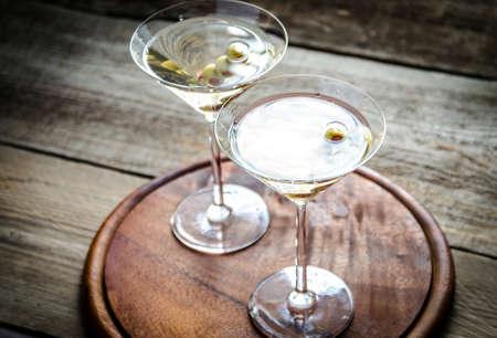 Deux cocktails martini Banque d'images - 32509043