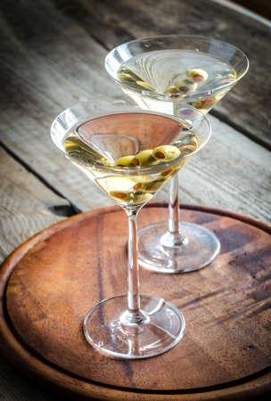 Deux cocktails martini Banque d'images - 32509051