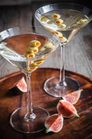 Deux cocktails martini Banque d'images - 32509070