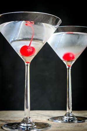 Deux cocktails martini Banque d'images - 32509074